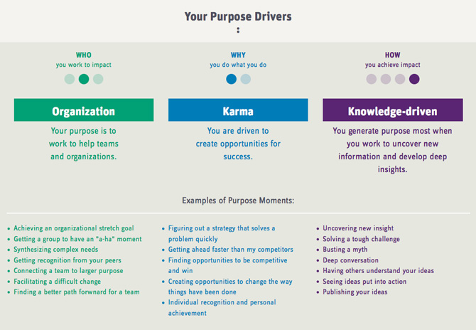 Purpose drivers